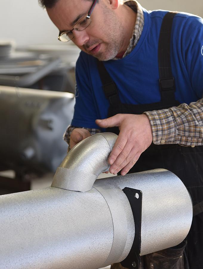 isolamenti in poliuretano, azienda metalmeccanica, riscaldamento, condizionamento